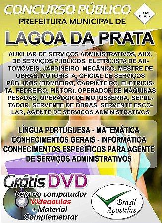 Lagoa da Prata - MG - 2018 - Apostilas Para Nível Fundamental, Médio, Técnico e Superior