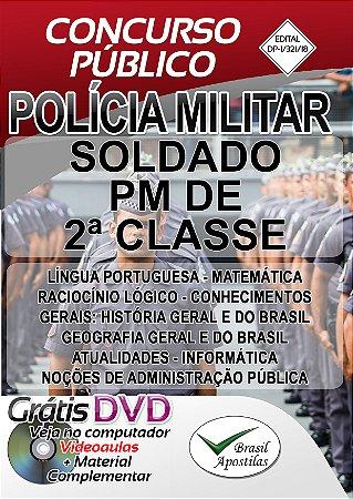 Polícia Militar- SP - 2019 - Apostila para Soldado de 2ª Classe
