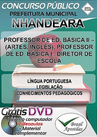 Nhandeara- SP - 2018 - Apostila Para Professores