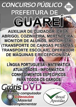 Guareí - SP - 2018 - Apostilas Para Nível Fundamental, Médio, Técnico e Superior