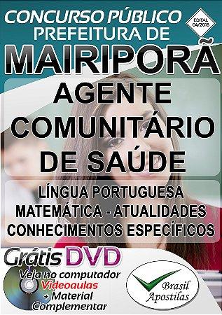 Mairiporã - SP - 2018 - Apostila para Agente Comunitário de Saúde