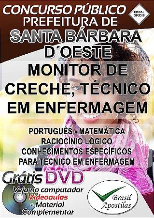 Santa Bárbara D´Oeste - SP - 2018 - Apostila Para Nível Médio e Técnico