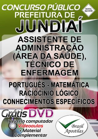 Jundiaí - SP - 2018 - Apostila Para Nível Médio e Técnico