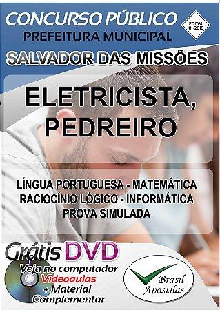 Salvador das Missões - RS - 2018 - Apostilas Para Nível Fundamental, Médio e Superior