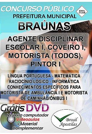 Braúnas - MG - 2018 - Apostilas Para Nível Fundamental e Médio