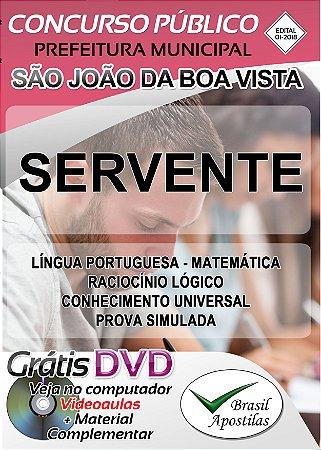 São João da Boa Vista - SP- 2018 - Apostila Para Nível Fundamental