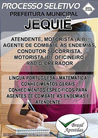 Jequié - BA - 2018 - Apostilas Para Nível Médio, Técnico e Superior - VERSÃO DIGITAL