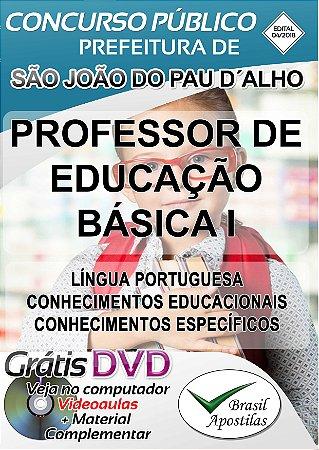 São João Do Pau D´Alho - SP - 2018 - Apostila Para Professor de Educação Básica I