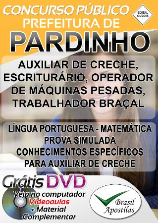 Pardinho - SP - 2018 - Apostilas Para Nível Fundamental, Médio, Técnico e Superior