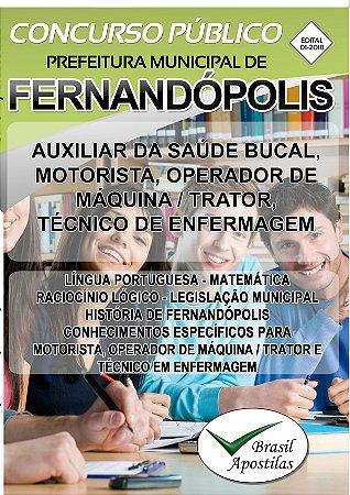 Fernandópolis - SP - 2018 - Apostila Para Nível Médio e Técnico