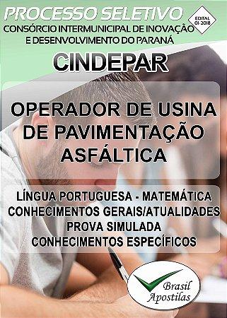 CINDEPAR - Paraná - PR - 2018- Apostila Para Operador de Usina de Pavimentação Asfáltica - VERSÃO DIGITAL