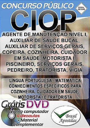 CIOP - Presidente Prudente - SP - 2018 - Apostilas Par Nível Fundamental, Médio, Técnico e Superior