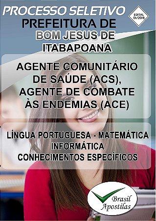 Bom Jesus de Itabapoana - RJ - 2018 - Apostila Para Nível Médio - VERSÃO DIGITAL