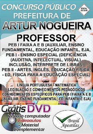 Artur Nogueira - SP - 2018 - Apostila Para Professor