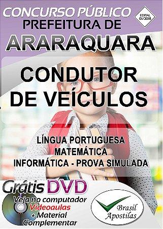Araraquara - SP - 2018 - Apostilas Para Nível Fundamental, Médio, Técnico e Superior