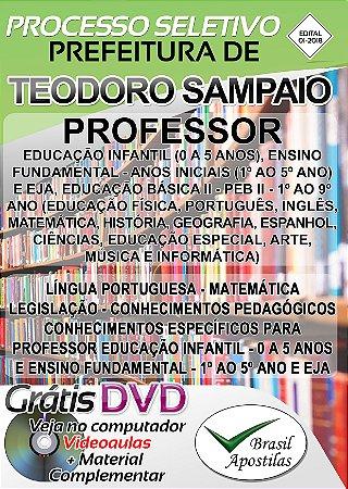 Teodoro Sampaio - SP - 2018 - Apostila Para Professor