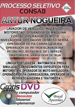 CONSAB - Artur Nogueira - SP - 2018 - Apostilas Para Nível Fundamental