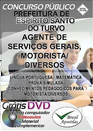 Espírito Santo do Turvo - SP - 2018 - Apostilas Para Nível Fundamental, Médio, Técnico e Superior
