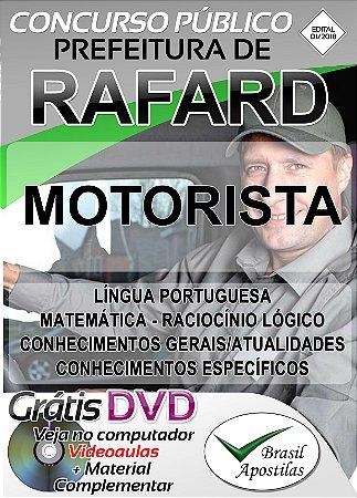 Rafard - SP - 2018/2019 - Câmara - Apostila Para Motorista