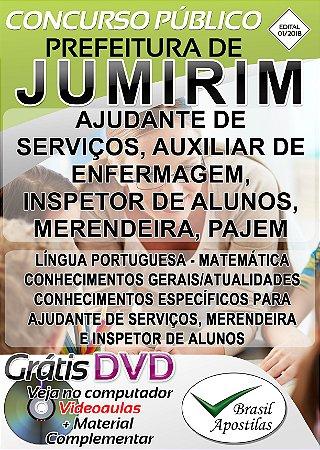 Jumirim - SP - 2018/2019 - Apostilas Para Nível Fundamental e Superior