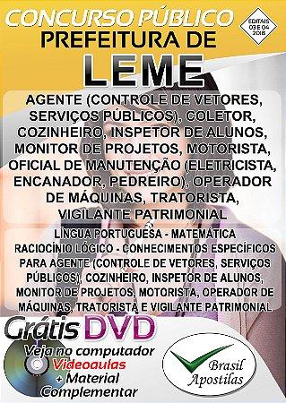 Leme - SP - 2018 - Apostilas Para Nível Fundamental e Médio
