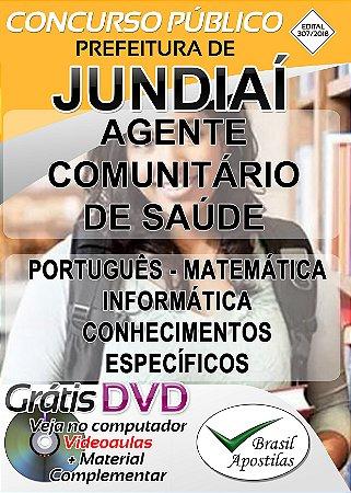 Jundiaí - SP - 2018/2019 - Apostila Para Agente Comunitário de Saúde