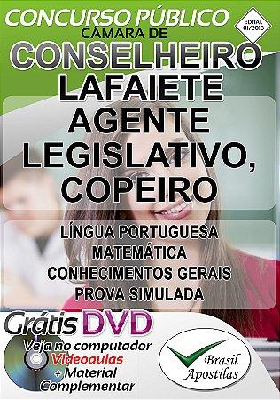 Conselheiro Lafaiete - MG - 2018/2019 - Apostilas Para Nível Fundamental e Médio