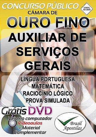 Ouro Fino - MG - 2018/2019 - Apostilas Para Nível Fundamental e Médio