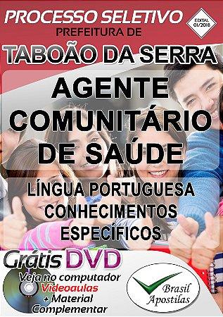 Taboão da Serra - SP - 2018/2019 - Apostila Para Agente Comunitário de Saúde