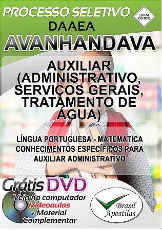 Avanhandava - SP - DAAEA - 2019 - Apostila Para Nível Fundamental e Médio