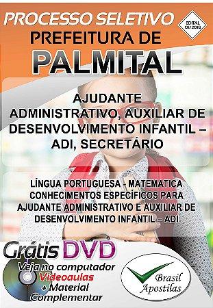 Palmital - SP - 2019 - Apostilas Para Nível Médio e Superior