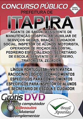Itapira - SP - 2019 - Apostilas Para Nível Fundamental, Médio e Superior