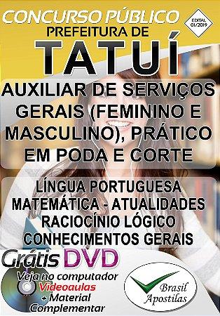 Tatuí - SP - 2019 - Apostilas Para Nível Fundamental, Médio e Superior