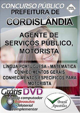 Cordislândia - MG - 2018/2019 - Apostilas Para Nível Fundamental e Médio