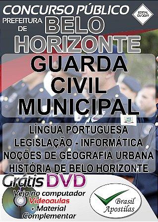 Belo Horizonte - MG - 2019 - Apostila Para Guarda Civil Municipal