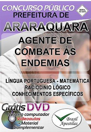 Araraquara - SP - 2019 - Apostila Para Agente de Combate as Endemias