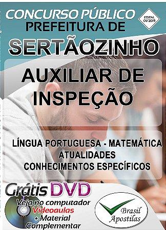 Sertãozinho - SP - 2019 - Apostila Para Auxiliar de Inspenção