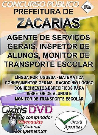 Zacarias - SP - 2019 - Apostilas Para Nível Fundamental, Médio e Superior
