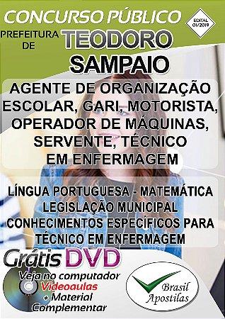 Teodoro Sampaio - SP - 2019 - Apostila Para Nível Fundamental e Médio