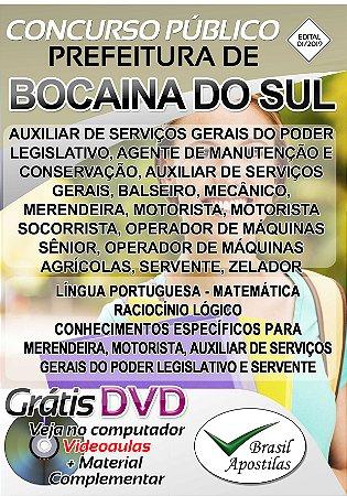 Bocaina do Sul - SC - 2019 - Apostilas Para Nível Fundamental, Médio e Superior