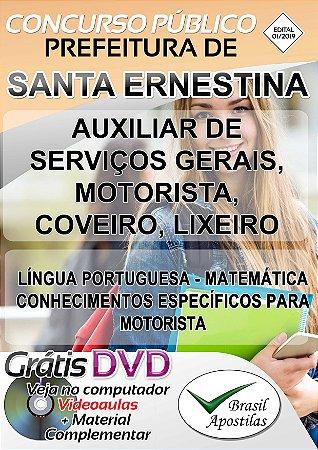 Santa Ernestina - SP - 2019 - Apostilas Para Nível Fundamental, Médio, Técnico e Superior