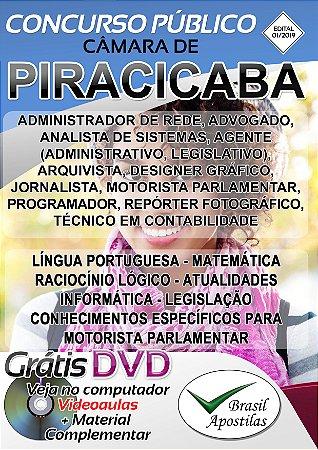 Piracicaba - SP - 2019 - Câmara - Apostila Para Nível Médio e Superior
