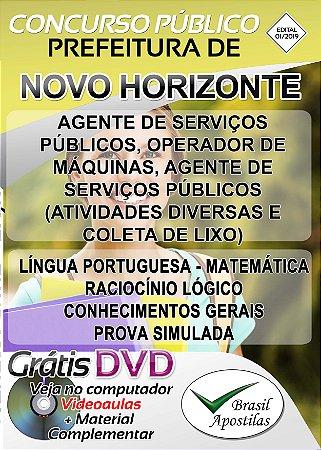 Novo Horizonte - SP - 2019 - Nível Fundamental e Médio