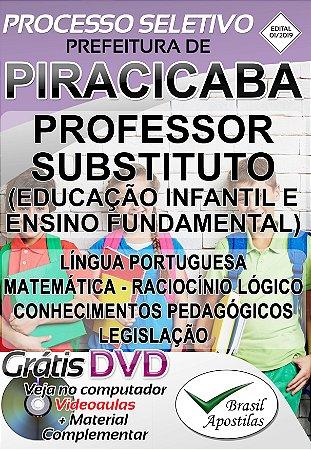 Piracicaba - SP - 2019 - Apostila Para Professor Substituto (Educação Infantil E Ensino Fundamental)