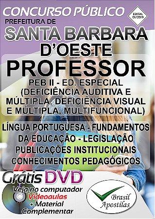 Santa Bárbara d'Oeste - 2019 - Apostila para Professor PEB II - Educação Especial