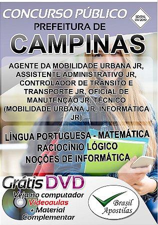 EMDEC - Campinas - 2019 - Apostila Para Nível Médio e Técnico