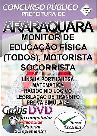 Araraquara - SP - 2019 - Apostilas Para Nível Fundamental, Médio e Superior