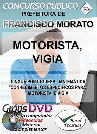 Francisco Morato - SP - 2019 - Apostilas Para Nível Fundamental, Médio e Superior