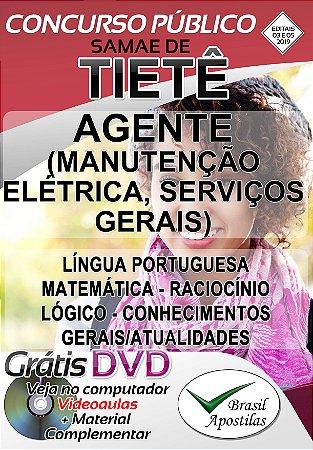 Tietê - SP - SAMAE - 2019 - Apostila Para Agente