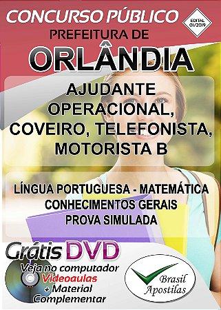 Orlândia- SP - 2019 - Apostilas Para Nível Fundamental, Médio, Técnico e Superior